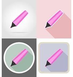 Stationery flat icons 09 vector
