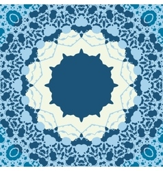 Blue Seamless abstract background with round lace vector image