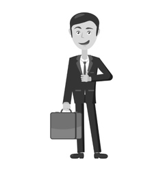 Businessman with briefcase icon vector image