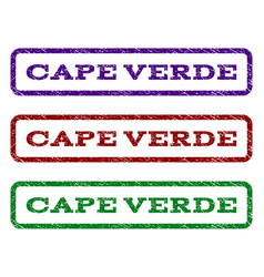 Cape verde watermark stamp vector