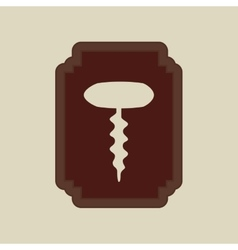 cork bottle icon vector image