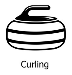 Curling icon simple black style vector