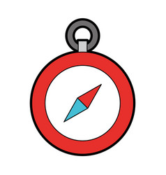 Cute red compass cartoon vector