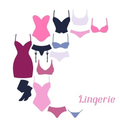 Fashion lingerie background design with female vector