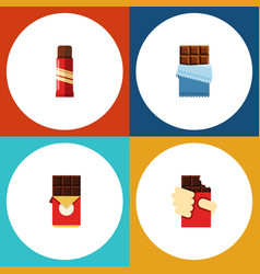 Flat icon chocolate set of shaped box sweet vector