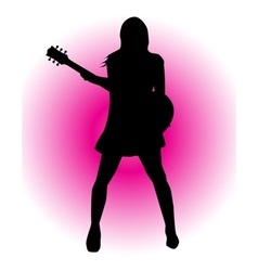 Girl guitarist vector
