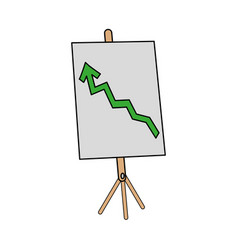 graph chart with arrow icon image vector image vector image