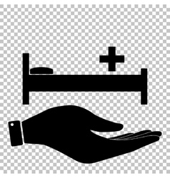 Hospital sign Flat style icon vector image vector image