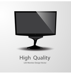 Led monitor design vector