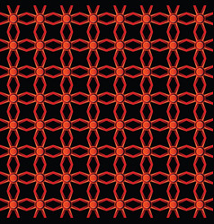 Line and angular red colors metal pattern vector