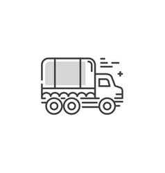 line truck logo vector image