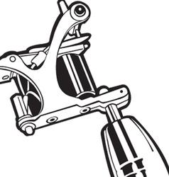 machine tattoo 2 vector image