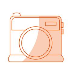 monocromatic camera design vector image