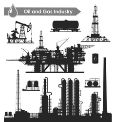 Oil industry set vector image vector image