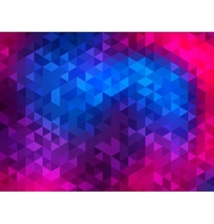 Polygonal Background for webdesign - Blue purple vector image vector image