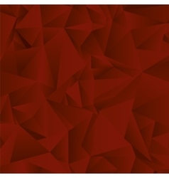 Red polygon background vector image vector image