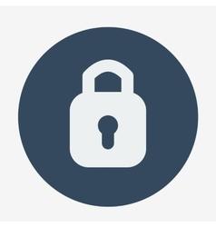 Single flat style padlock icon vector image