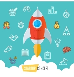Start Up Motivation Concept Flat vector image