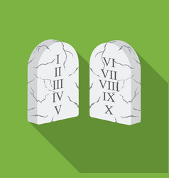 Ten commandments icon in flat style isolated on vector