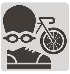 Triathlon sport icon vector