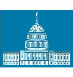 United states capitol hill vector