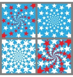 USA Holiday Background Set Veterans Day vector image vector image