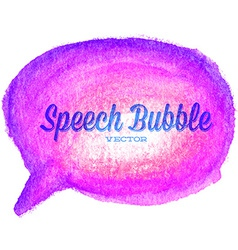 watercolor drawn purple speech bubble vector image vector image