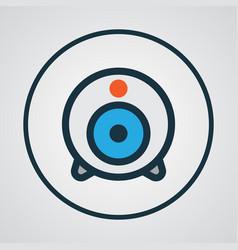 Web cam colorful outline symbol premium quality vector