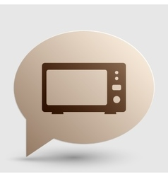 Microwave sign  brown gradient icon vector