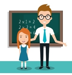 Student school teacher icon vector