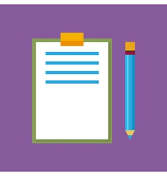 Clipboard with a pencil isolated vector