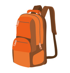 travel backpack icon cartoon style vector image