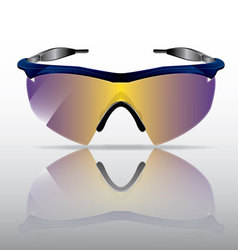 Sporty sunglasses with reflection vector