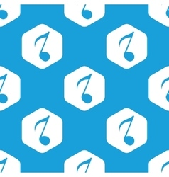 Eighth note hexagon pattern vector