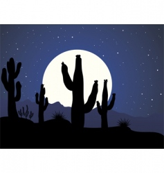 cactus background vector image