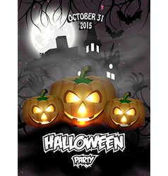 Halloween party flayer vector