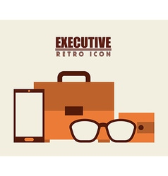 Isolated retro icon vector