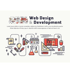 Web design and development icons and symbols vector