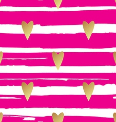 Seamless gold pattern with hearts vector