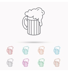 Beer icon glass of alcohol drink sign vector