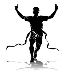 Silhouette running winner vector