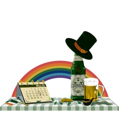 St patricks day on the table vector