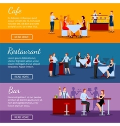 Catering Banners Set vector image