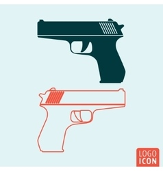 Gun icon isolated vector
