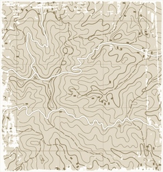 Old topographic map vector
