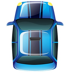 A topview of an elegant vehicle vector image vector image