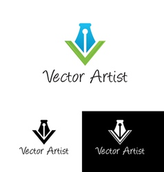 artist logo template vector image vector image