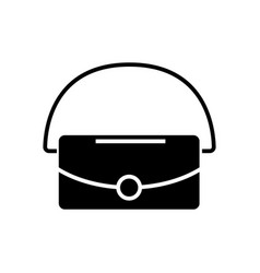 bag icon black sign on vector image