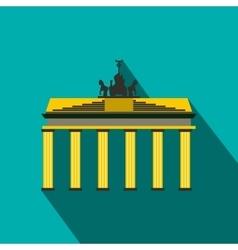 Brandenburg gate icon in flat style vector