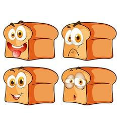 Bread with facial expression vector image vector image